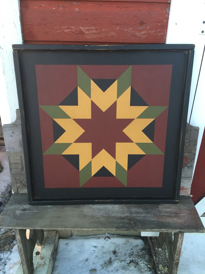 PriMiTiVe Hand-Painted Barn Quilt Small Frame 2' x 2' image 0