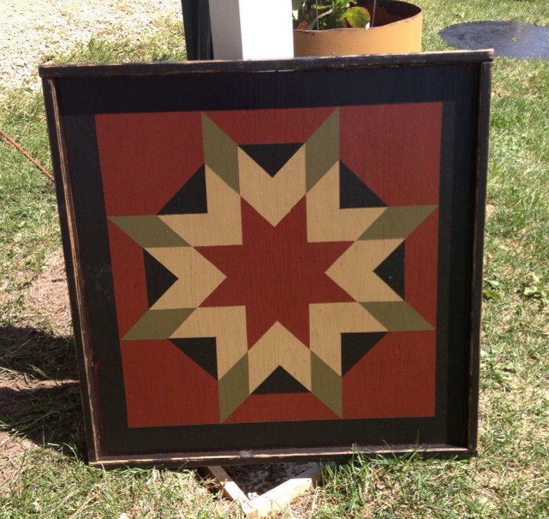 GIFT CERTIFICATE for a PriMiTiVe Hand-Painted Barn Quilt image 0