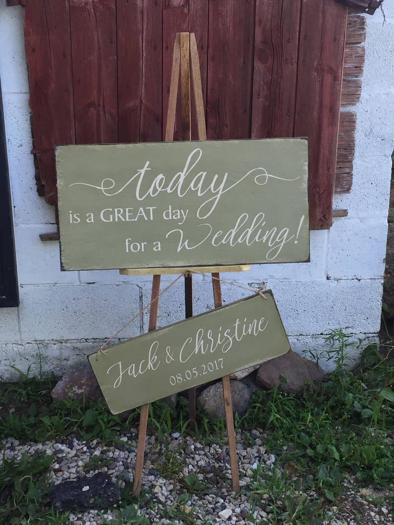 Primitive Wedding Day Sign Set image 0
