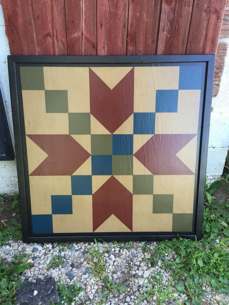 PRiMiTiVe Hand-Painted Barn Quilt  3' x 3' Stepping image 0