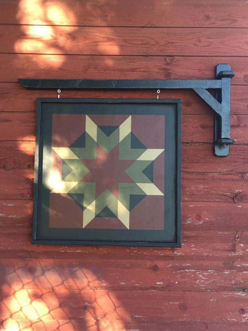Primitive Barn Quilt Arm Wall Bracket image 0