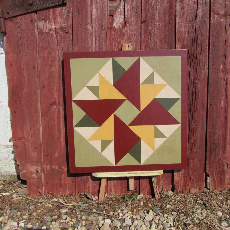 PriMiTiVe Hand-Painted Barn Quilt  18 Unframed image 0