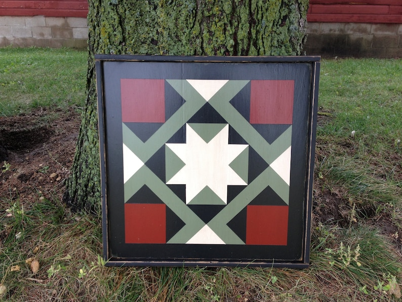 PRiMiTiVe Hand-Painted Barn Quilt  3' x 3' Magic image 0
