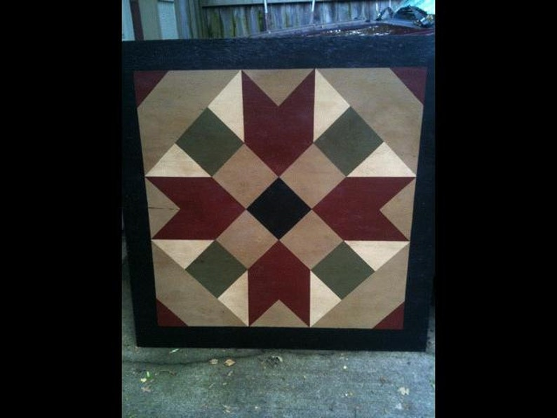 PriMiTiVe Hand-Painted Barn Quilt 3' x 3' image 0