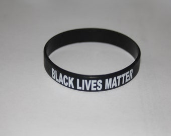 Black Lives Matter Silicone Wristband