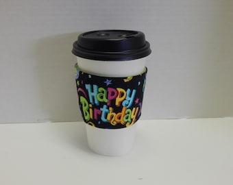 Reusable Drink Wrap Happy Birthday