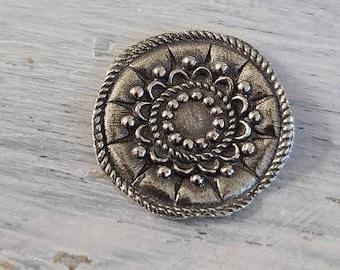 reclaimed fine silver rare earth magnet -beautiful blossom- needleminder