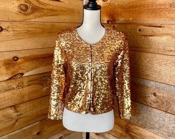 1980s Diamond /& Sequin Sweater Size Large