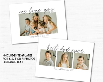INSTANT DOWNLOAD Father's Day Photo Gift, Personalized Photo Art