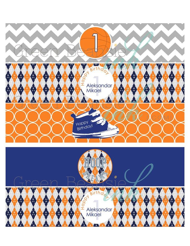 MODERN BASKETBALL Printable Drink Wraps image 0