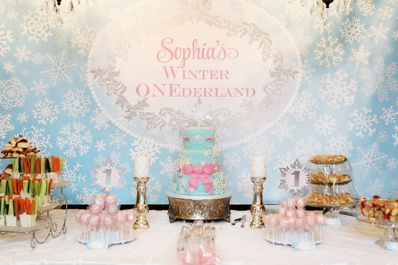 ONEDERLAND Printable Party Backdrop 72 x 39  you image 0