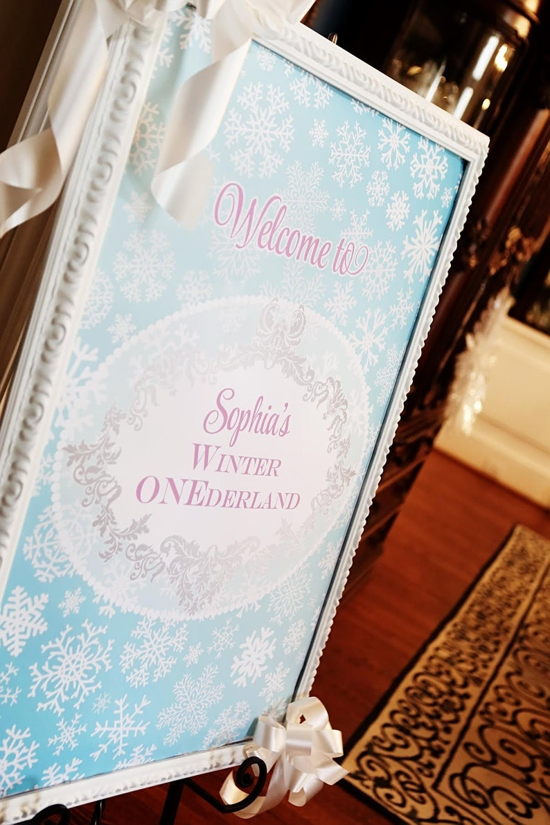 ORNATE ONEDERLAND Printable 24 x 36  inch Welcome Sign image 0