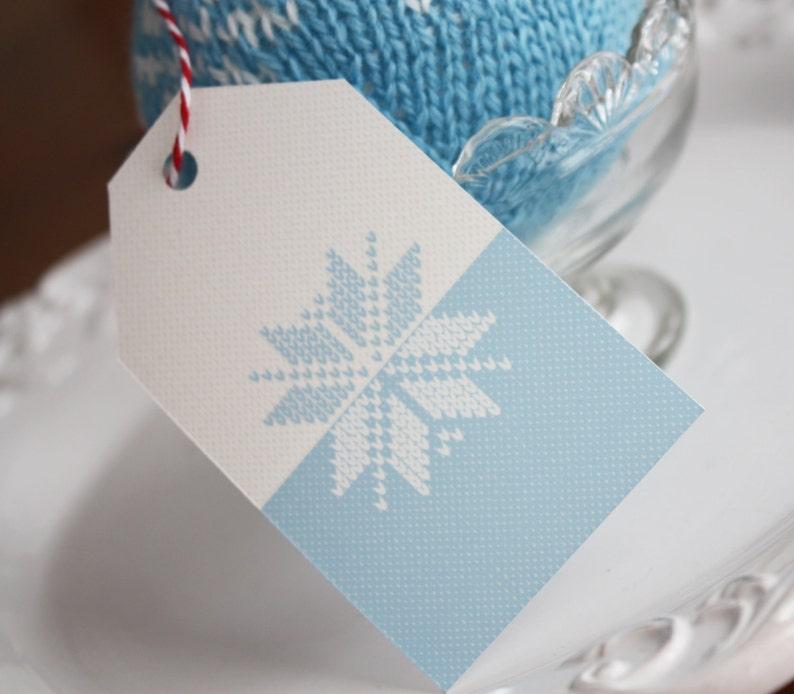 FAIR ISLE CHRISTMAS Printable Gift Tags image 0