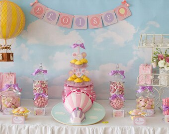 CLOUDS & SKY Printable Party Backdrop - you print