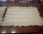 Gorgeous victorian handmade lace pillow shams