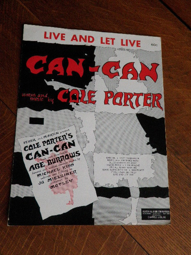Live and Let Live Cole Porter Antique Piano Sheet Music