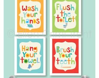 Kids Bathroom Decor Etsy
