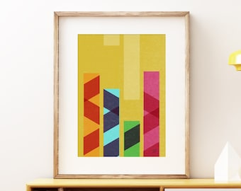Ballet wall art print - Mid-century modern art, vintage style print, simple abstract artwork for the home or office