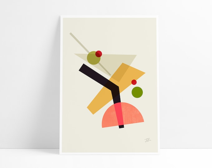 Featured listing image: Cocktail IV Martini wall art print