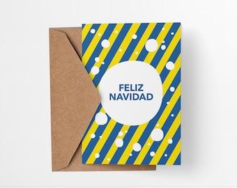 Feliz Navidad Snowball Christmas Card