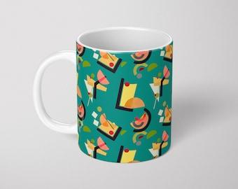 Abstract Cocktail 11oz ceramic mug