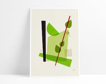 Cocktail V Mojito wall art print