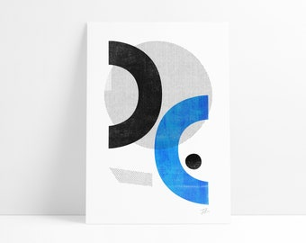Opposites Playground abstract wall art print