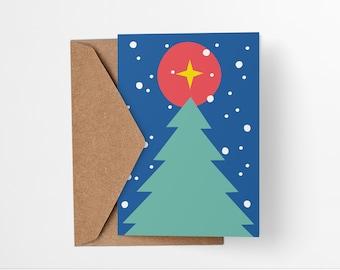 Christmas Tree and Star greeting card