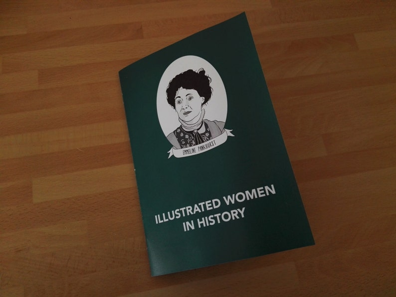 A5 FULL COLOUR  Illustrated Women in History zine feat. 20 image 0