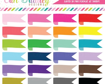 Wrap Around Ribbon Banner Clipart Personal & Commercial Use Graphics Label Clip Art