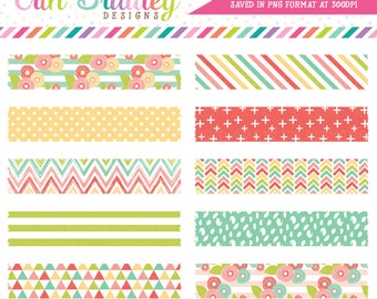 Muted Brights Digital Washi Tape Clipart Instant Download Commercial Use Clip Art Graphics
