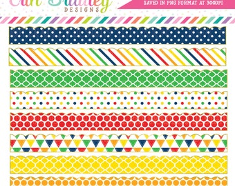 Border Clipart Graphics Primary Colors Scalloped Border Clip Art Frames Red Orange Yellow Green Blue