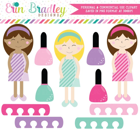 on sale spa day girls clipart spa clip art graphics girls etsy rh etsy com clip art of girls 1900 fashions clip art of girls playing math games