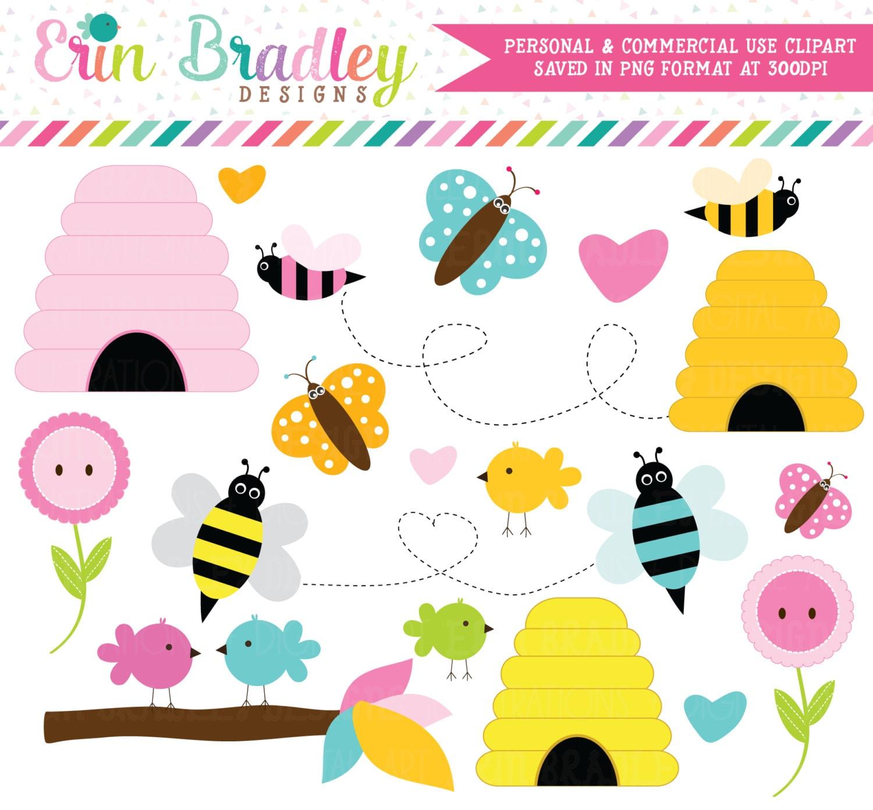 AUF VERKAUF Vögel Bienen Clipart ClipArt für persönliche &   Etsy