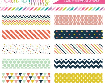 Digital Washi Tape Clipart Craft Party Collection