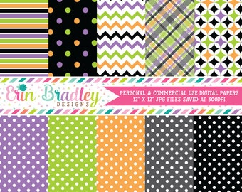 Digital Scrapbook Papers Personal and Commercial Use Halloween Pretties
