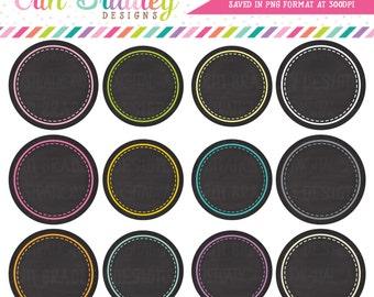 Chalkboard Circles Clipart Clip Art Personal & Commercial Use Digital Scrapbooking