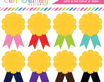 Award Clipart Ribbon Badges Clip Art Graphics for School or Sports Personal & Commercial Use