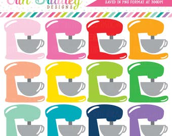 Stand Mixer Clipart Baking Clip Art Graphics Kitchen Clip Art Cooking Clipart Commercial Use OK