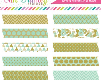 Instant Download Clipart Aqua Blue Frame Tag Graphics with Floral Triangle Polka Dotted Chevron Digital Patterns Commerci