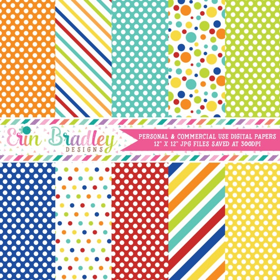 Easter Boys Digital Papers Blue Red Orange Yellow Green Etsy