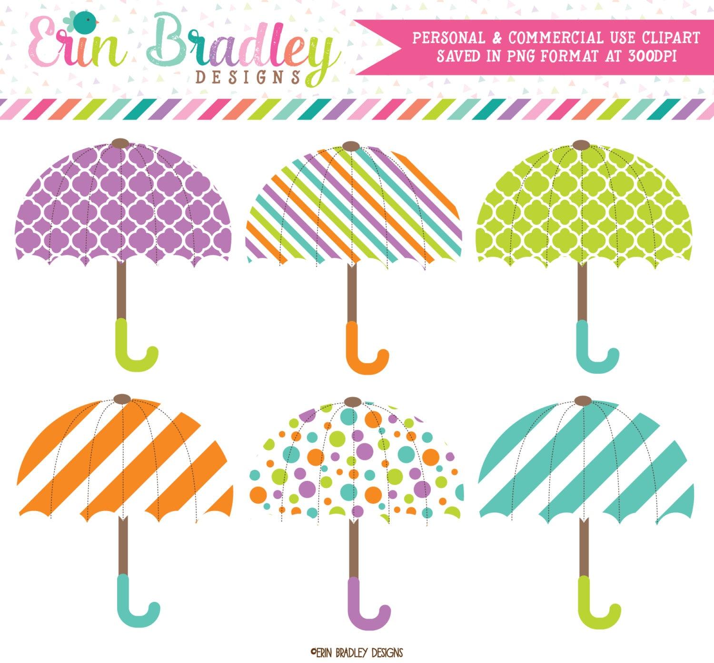 afa187114 Umbrella Clipart Graphics Digital Rainy Day Umbrella Clip Art | Etsy