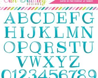 Teal Clipart Alphabet Digital Scrapbooking Alpha Instant Download Commercial Use Clip Art