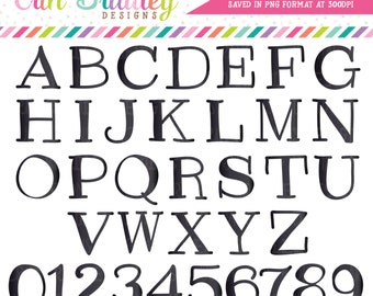 Black Clipart Alphabet Digital Scrapbooking Alpha Instant Download Commercial Use Clip Art