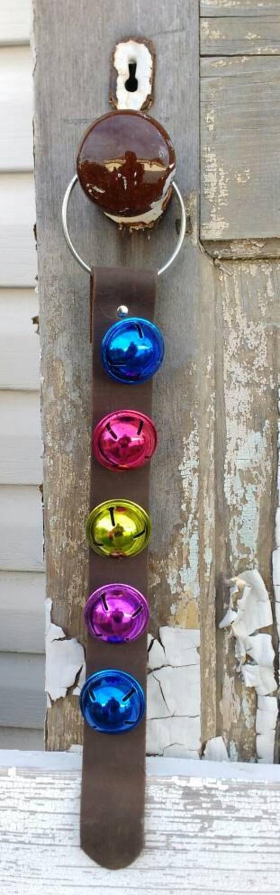 Pr t exp dier no l cuir porte bell cloches de no l etsy - Acheter une cloche de porte ...