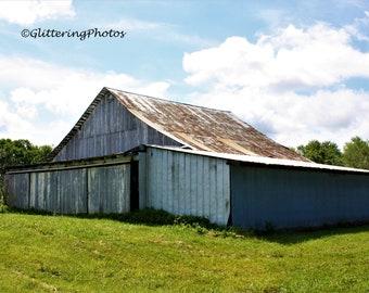 Barn Photography, Eminence Indiana, Rural Photography, Farmland Print, 8x10 Photo Print, Americana Photograph,  Unframed, Free Shipping