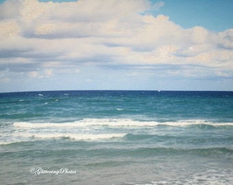 Sky, and Water, Boca Raton Beach, FLorida, Fine Art, Photography, Print, Glossy, 8 x 10