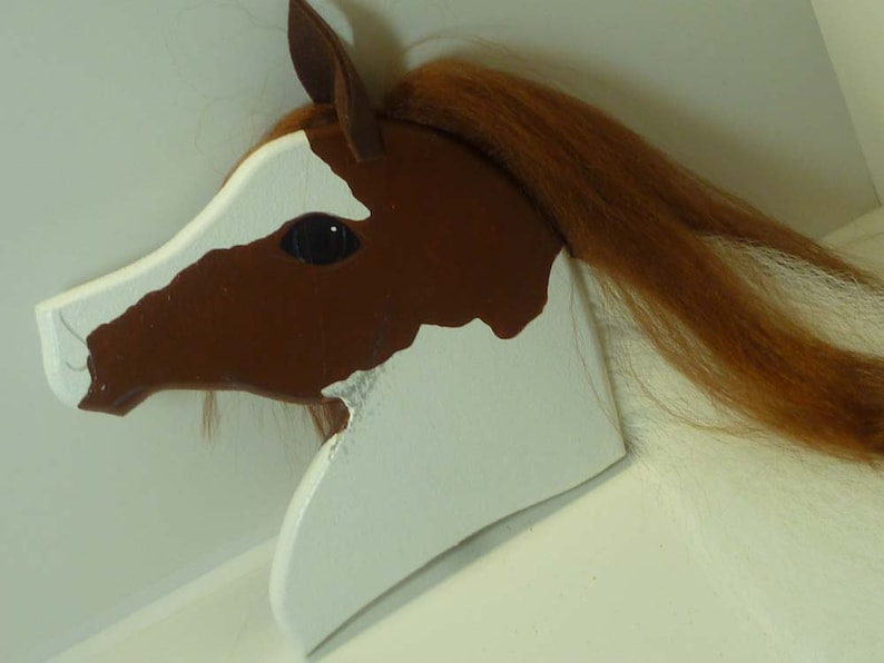 Arabian Stick Horse Beautiful Brown and White Paint image 0