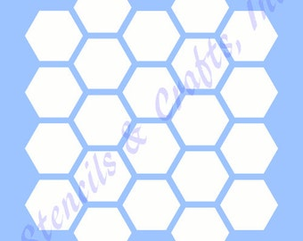 hexagon stencil etsy