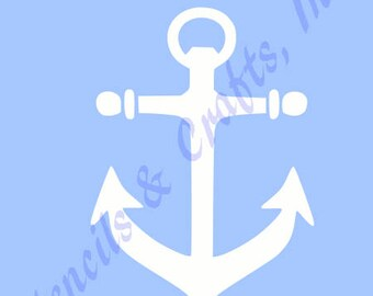 picture about Printable Anchor Stencil known as 11 ANCHOR STENCIL NAUTICAL large template anchors Etsy